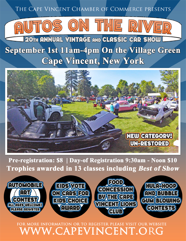 Autos On The River - Blank car show flyer