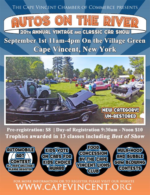 Autos On The River - Blank car show flyer